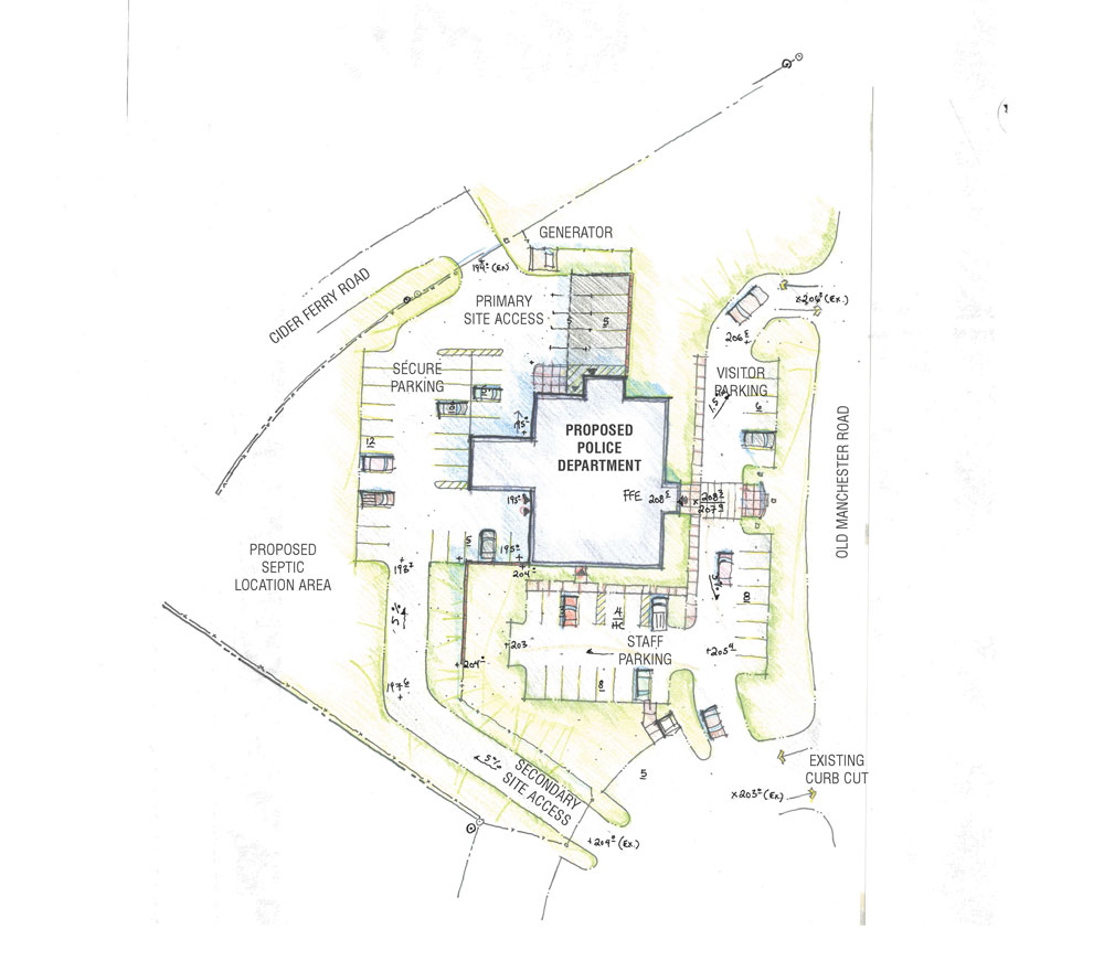 Town of Raymond, NH, police facility site plan