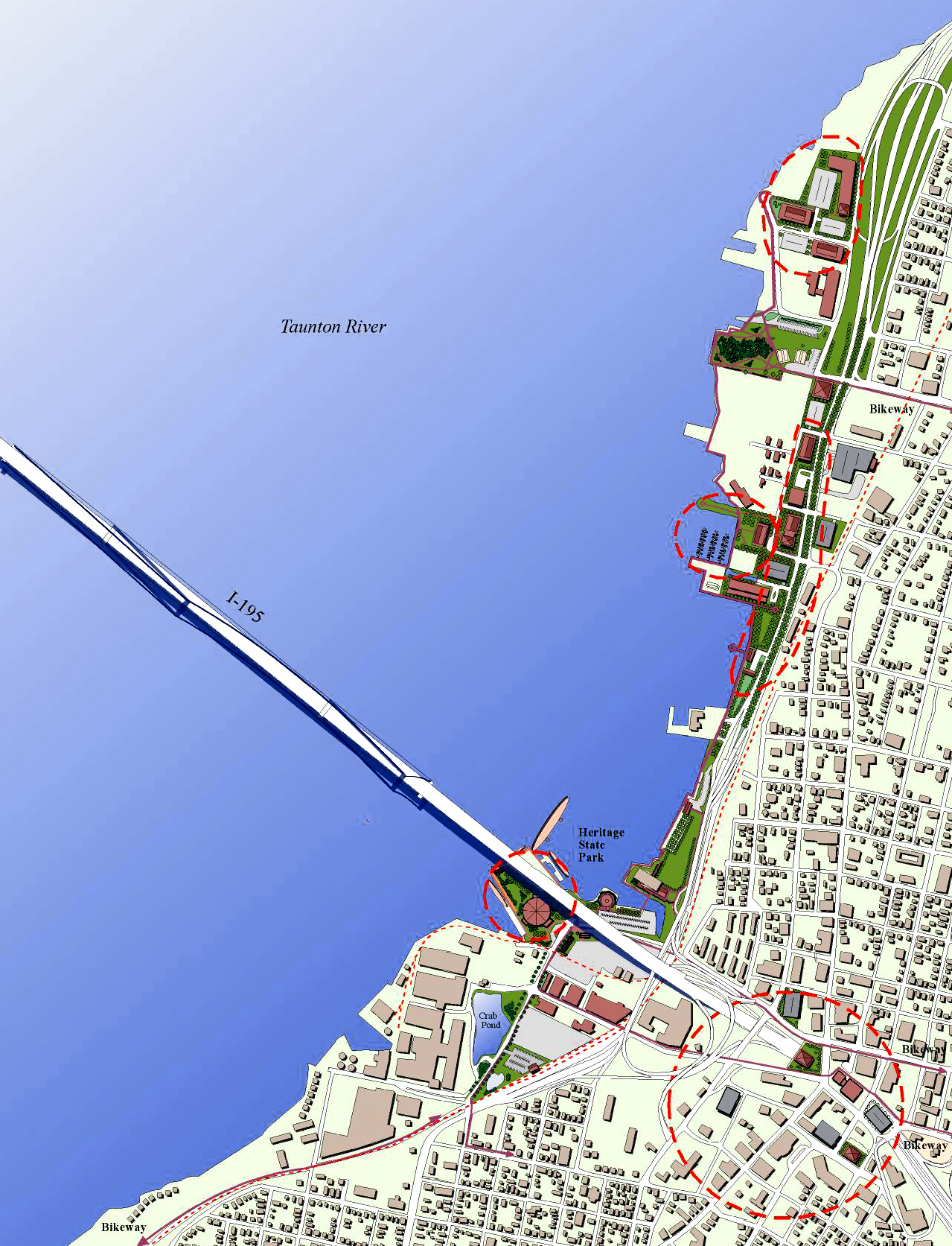 Fall River Harbor and Downtown Plan Harriman