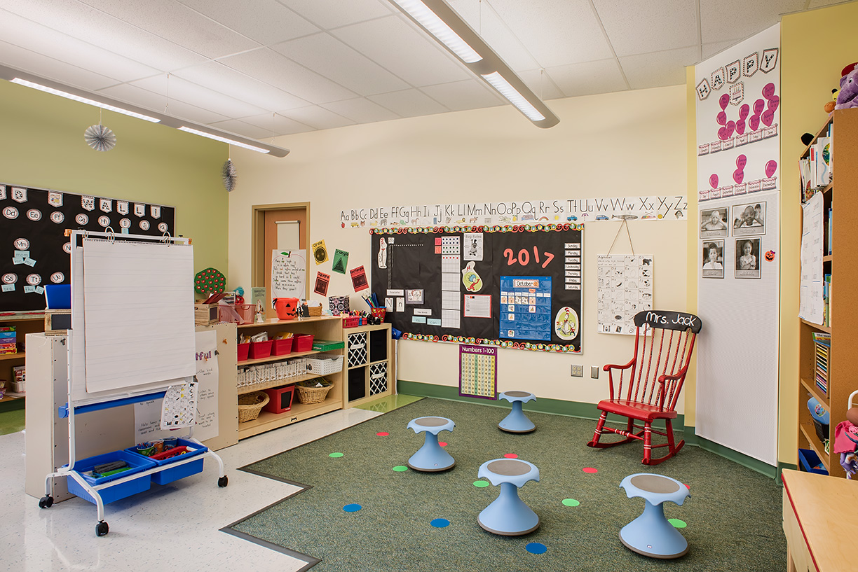 Lovely Central Community Elementary School Classroom Photo
