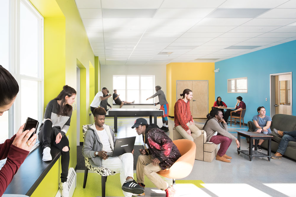 Tree street youth center renovation harriman for Youth center architecture