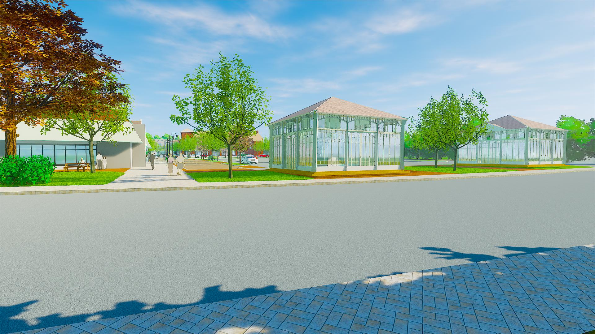 Durham Mill Plaza architectural rendering - street pads
