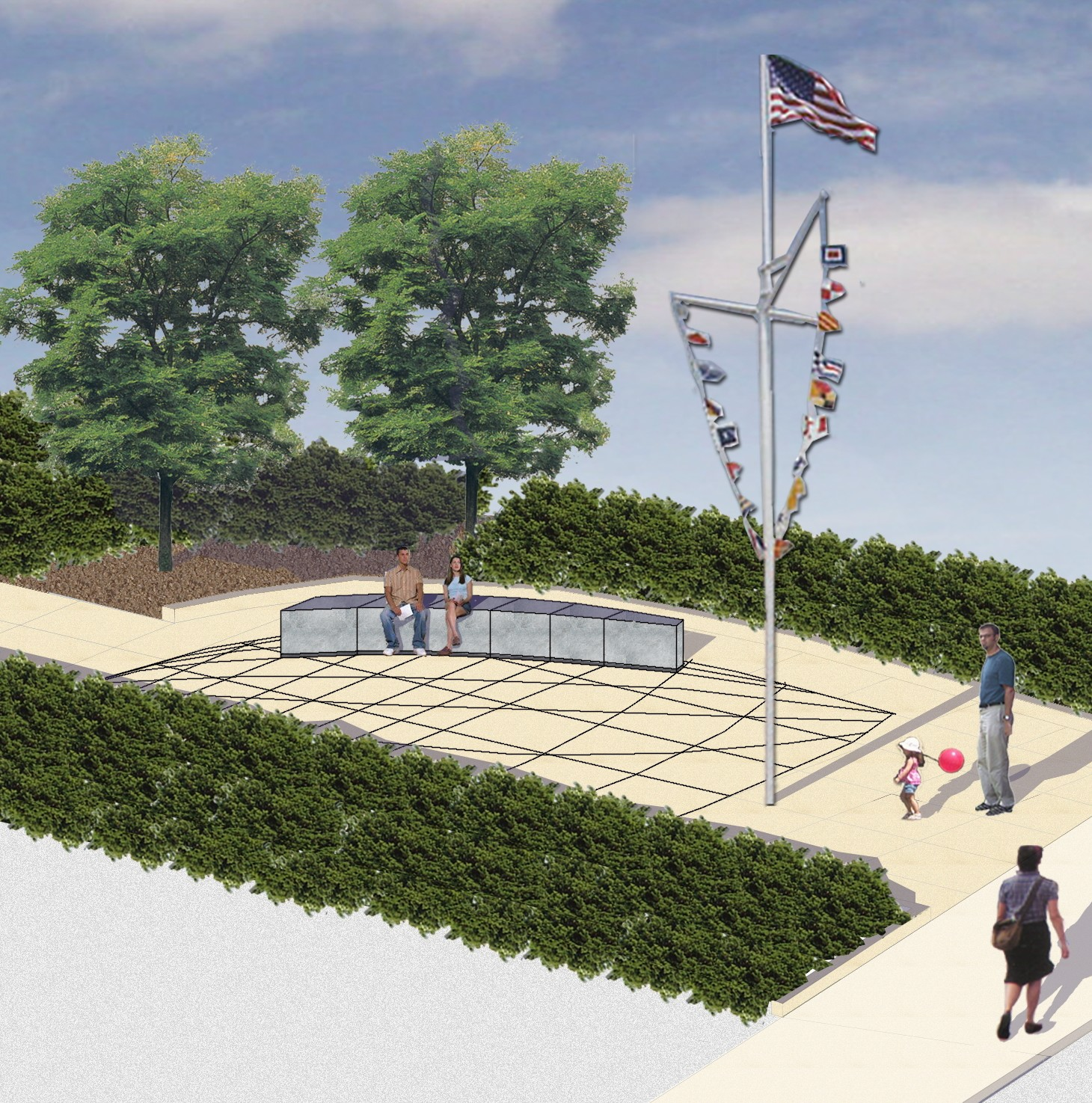 Salem Harborwalk 3d image