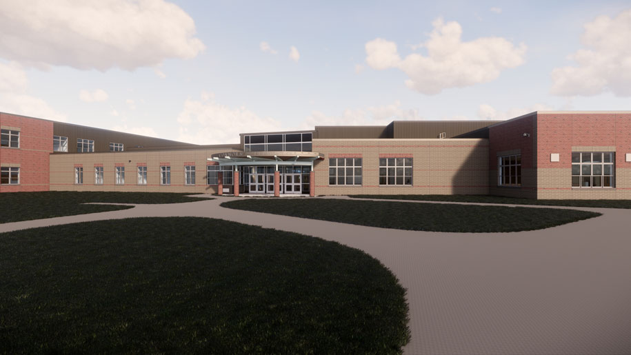 Connors Elementary School entry-way photo