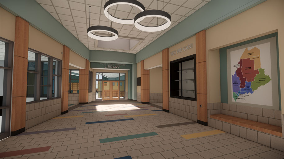 Connors Elementary School lobby photo