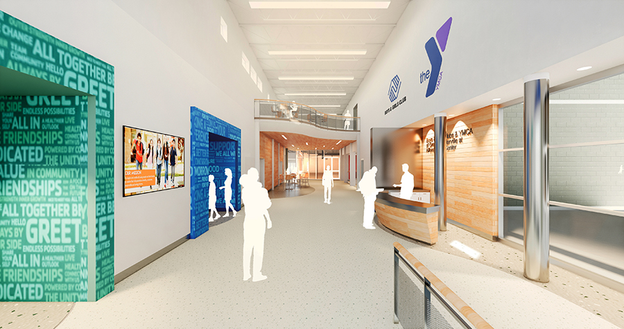 Alfond Youth Center welcome lobby photo