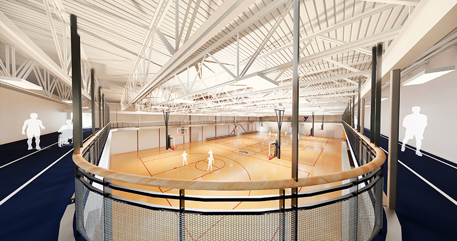 Alfond Youth Center indoor track photo