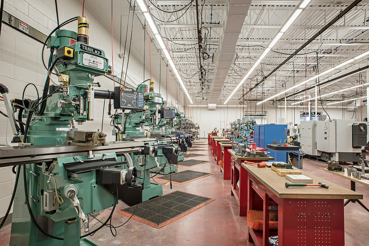Central Maine Community College Precision Machine Tool Laboratory Renovation photo