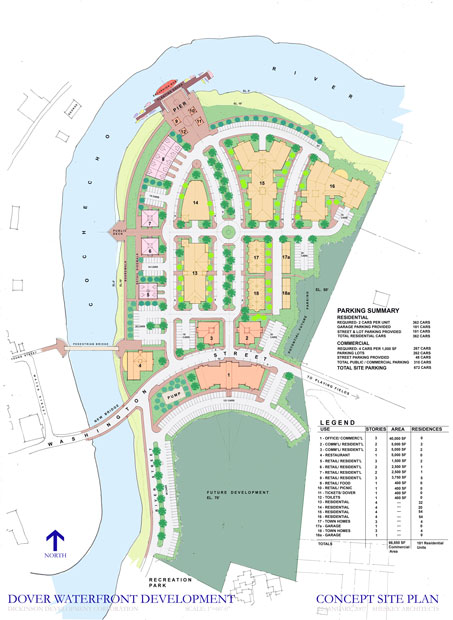 Dover Waterfront Design Guidelines site plan