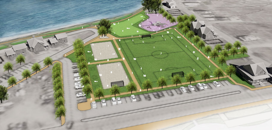 Hull Pemberton Point Soccer Field Illustration