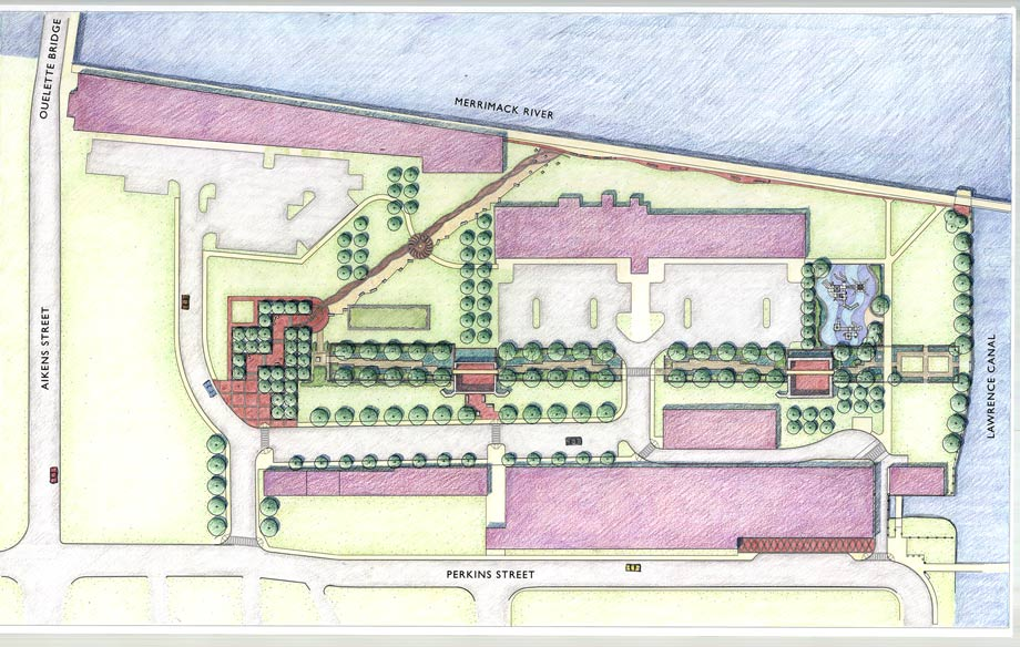 Lowell Mills Development Site Planning and Landscape Design architectural plans