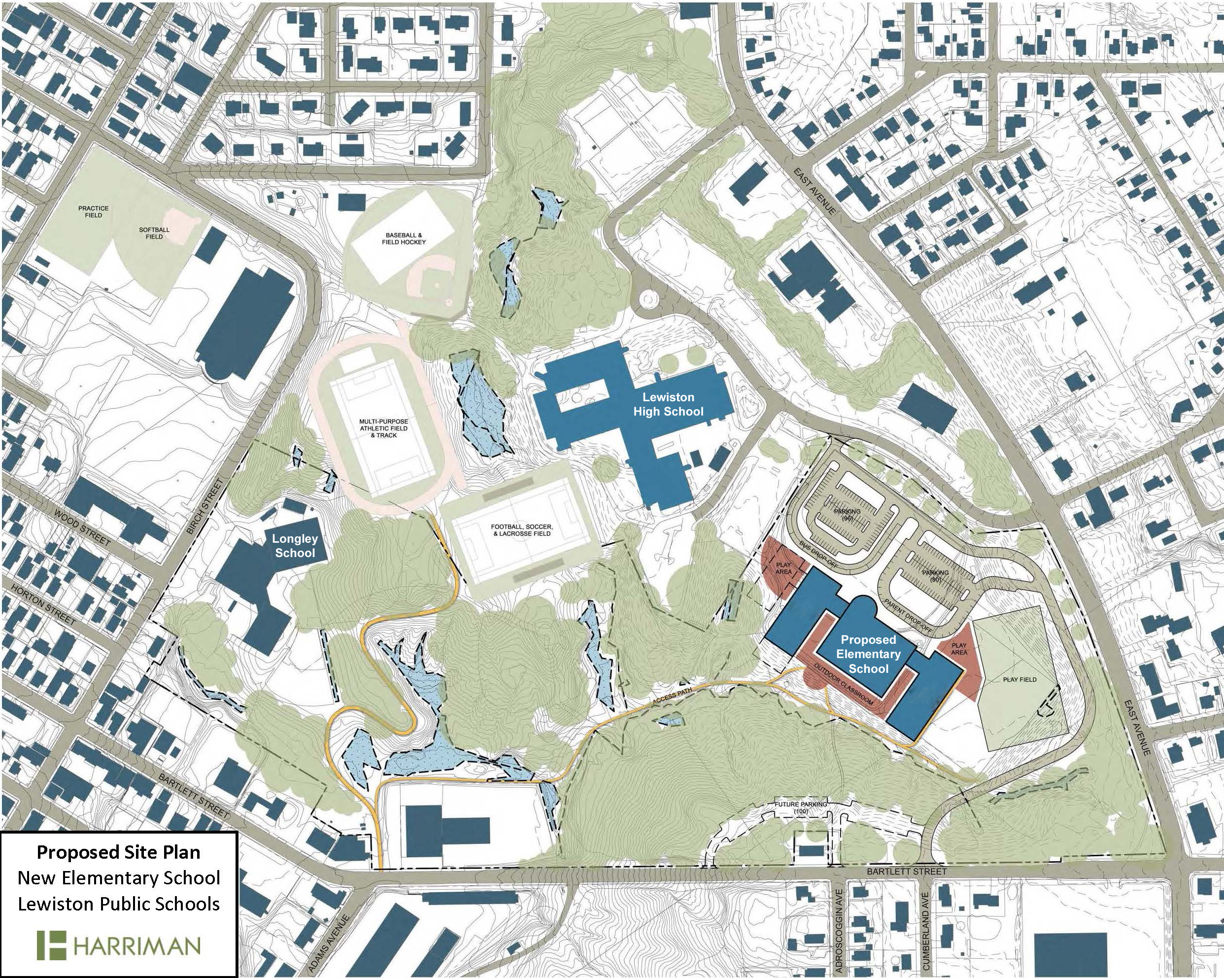 Proposed Site Plan for New School