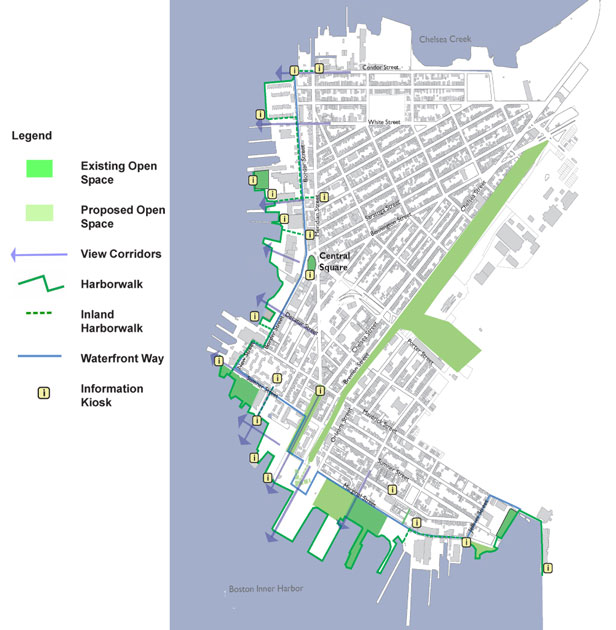 Boston Redevelopment Authority East Boston Harborwalk map