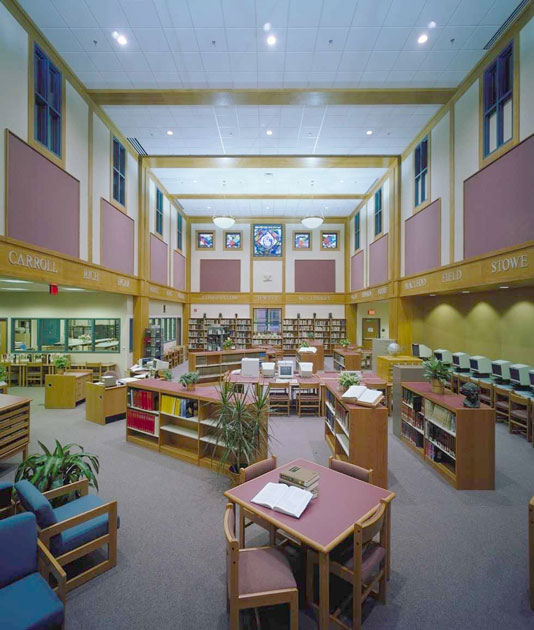 Brunswick High School library photo