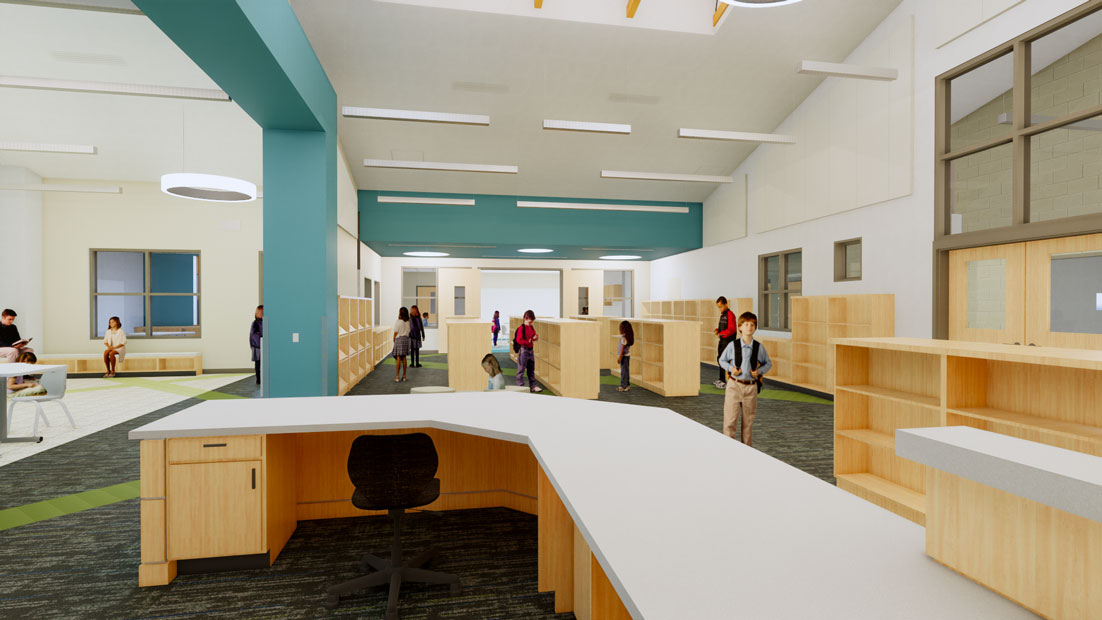Margaret Chase Smith Elementary School library photo