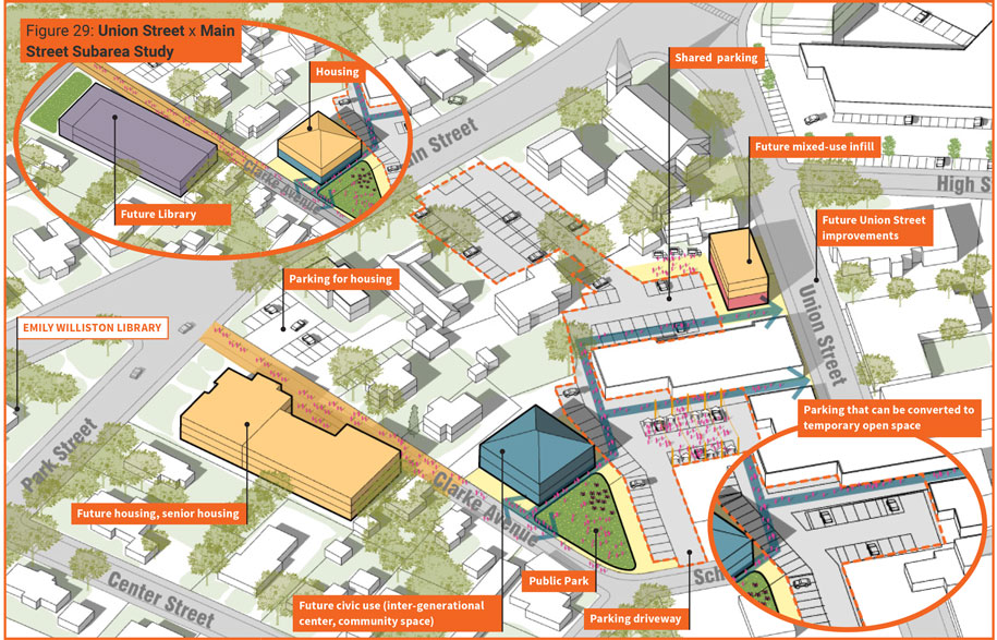 Easthampton Downtown Strategic Plan Street Study map