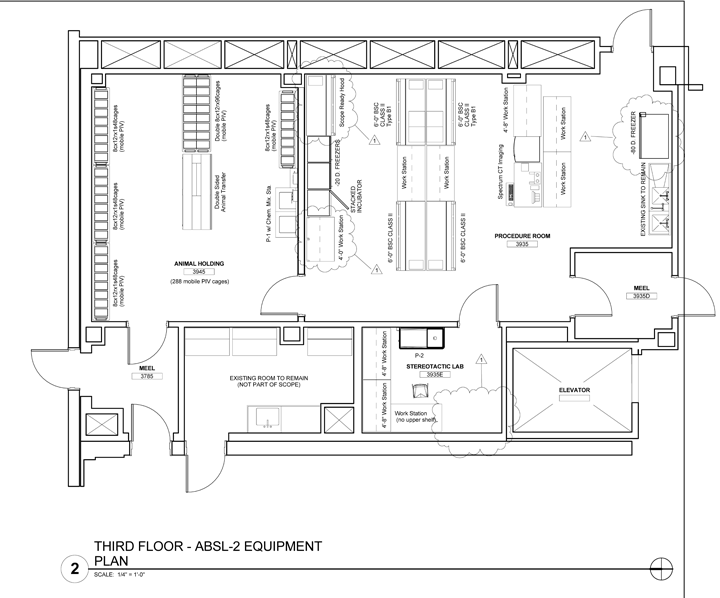 Jackson Laboratory Animal Facility floor plan