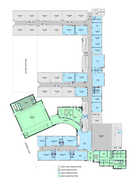 Harrison Lyseth Elementary School first floor plan illustration