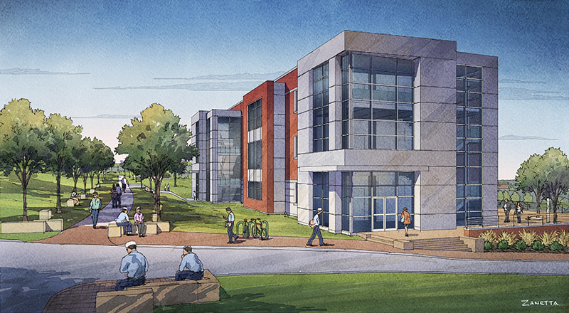 Maine Maritime Academy's Center for Engineering and Applied Research architectural rendering