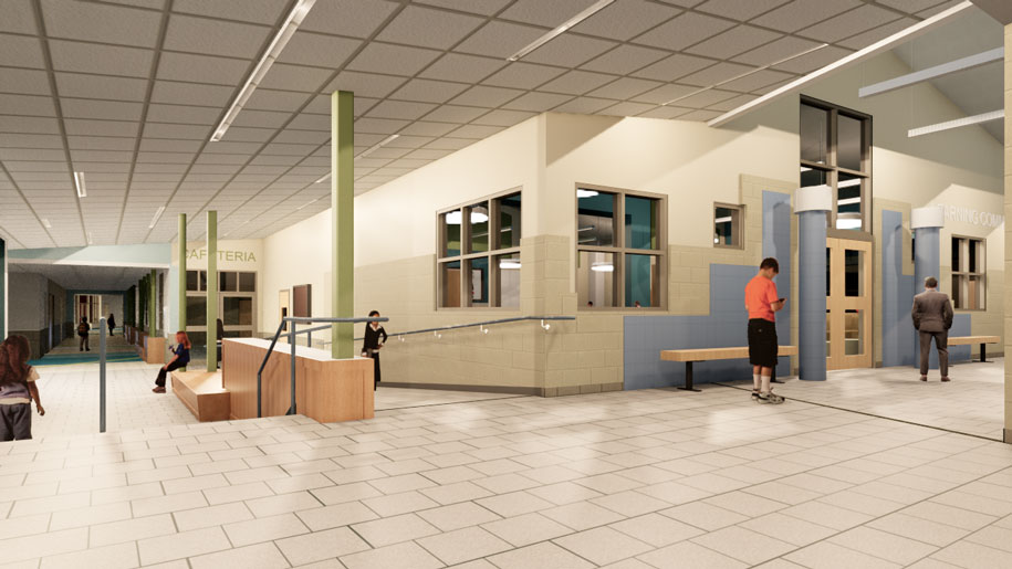 Sanford School lobby photo