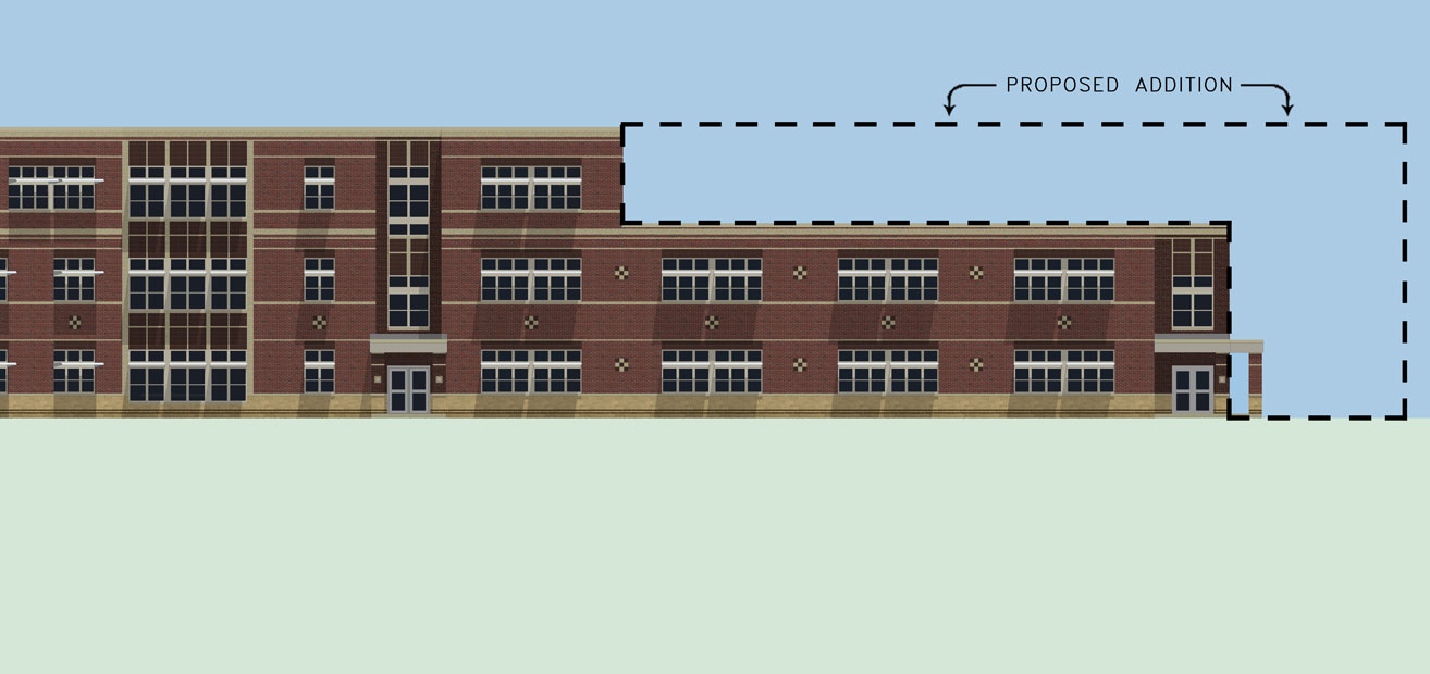 Westbrook Middle School architectural sketch