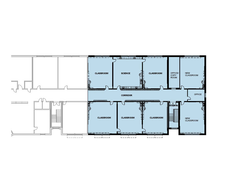 Westbrook Middle School floor plan